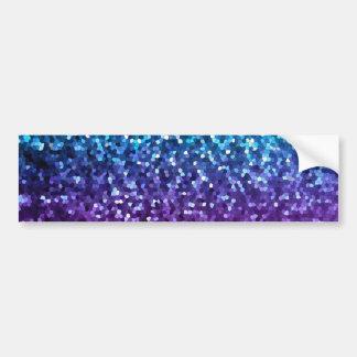 Bumper Sticker Mosaic Sparkley Texture
