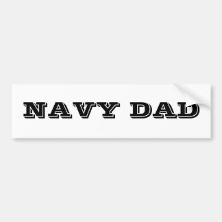 Bumper Sticker Navy Dad