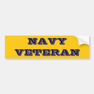 Bumper Sticker Navy Veteran