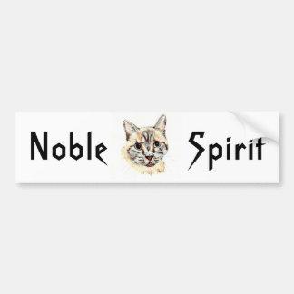 "Bumper Sticker: ""Noble Spirit"", tribal/spirit text"