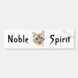 "Bumper Sticker: ""Noble Spirit"", tribal/spirit text Bumper Sticker"