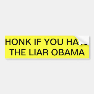Bumper Sticker obama haters and proud of it!