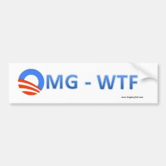 Bumper Sticker - Obama O - OMG-WTF