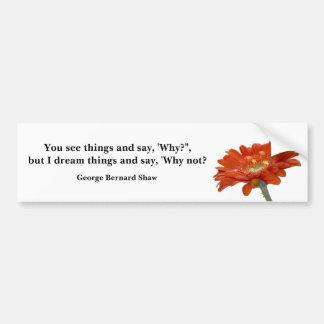 Bumper Sticker - Orange Daisy Gerbra Flower with q