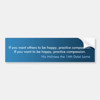Bumper Sticker Practice Compassion Bumper Car Bumper Sticker