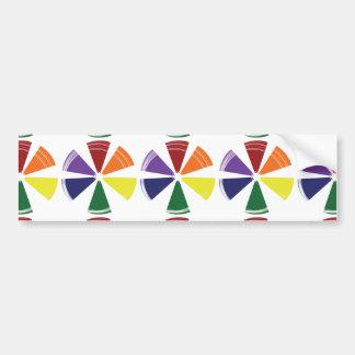 Bumper Sticker PRIDE COLOR WHEEL