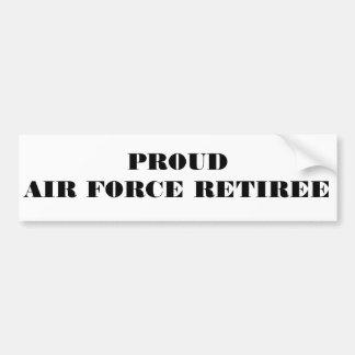 Bumper Sticker Proud Air Force Retiree