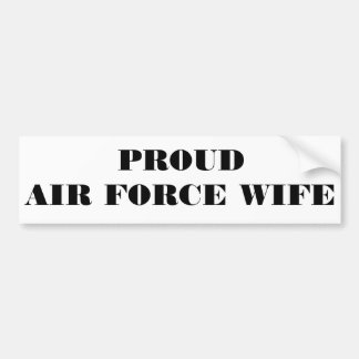 Bumper Sticker Proud Air Force Wife Car Bumper Sticker