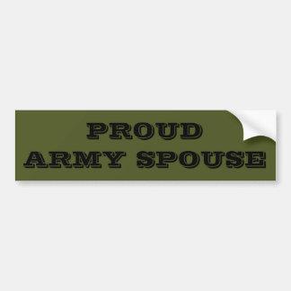 Bumper Sticker Proud Army Spouse
