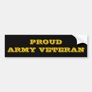 Bumper Sticker Proud Army Veteran Car Bumper Sticker