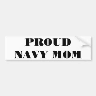 Bumper Sticker Proud Navy Mom