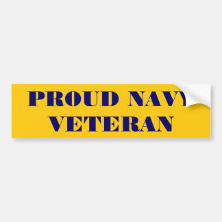 Bumper Sticker Proud Navy Veteran