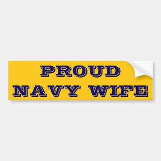 Bumper Sticker Proud Navy Wife