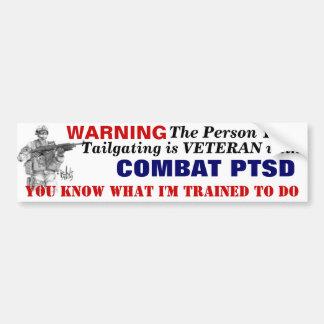 Bumper Sticker PTSD Car Bumper Sticker