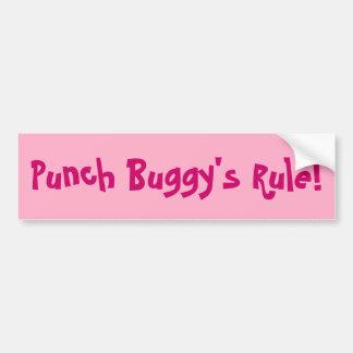 Bumper Sticker: Punch Buggy's Rule Car Bumper Sticker