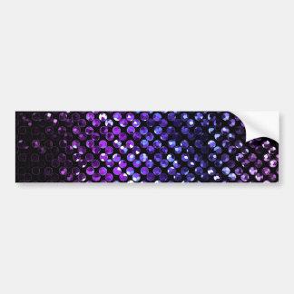 Bumper Sticker Purple Crystal Bling Strass