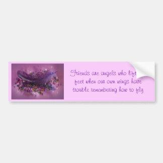 Bumper Sticker - Purple Fairys Feather Car Bumper Sticker