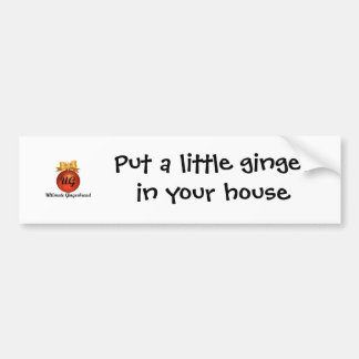 Bumper Sticker - Put a little ginger in your house