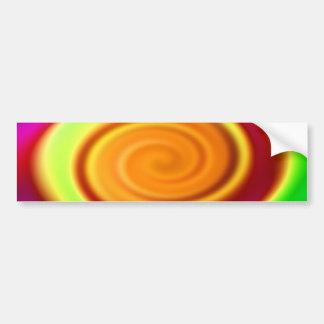 Bumper Sticker - Rainbow Swirl Abstract Pattern