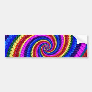 Bumper Sticker - Rainbow Swirl Fractal Pattern