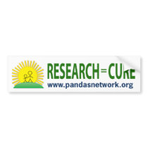 Bumper Sticker: Research = Cure Bumper Sticker