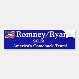Bumper Sticker Romney/Ryan 2012