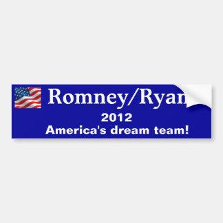 Bumper Sticker Romney/Ryan 2012 Car Bumper Sticker