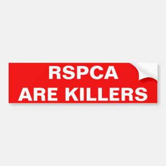 Bumper Sticker RSPCA Are Killers Car Bumper Sticker