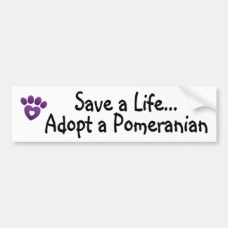 Bumper Sticker - Save A Pomeranian