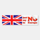 Bumper Sticker Say No to Europe