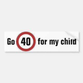 Bumper sticker school zone 40km/hr Australia