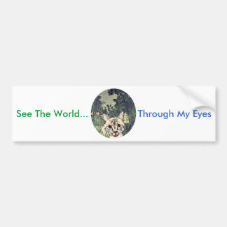 "Bumper Sticker ""See The World Through My Eyes"" Cat"