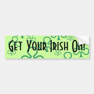 Bumper Sticker Shamrocks Get Your Irish On! Pride