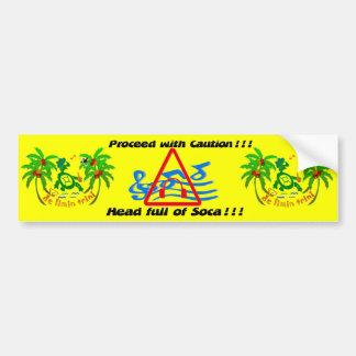 Bumper sticker, Soca expression, Calypso, Limin Bumper Sticker