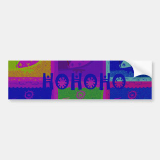 Bumper Sticker Special  Santa HoHoho Pop Art color