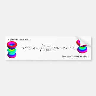 bumper sticker, spherical harmonics bumper sticker