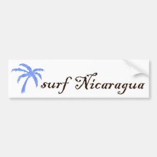 bumper sticker - surf Nicaragua Car Bumper Sticker
