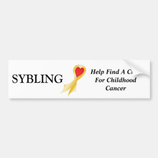 Bumper Sticker, Sybling Bumper Sticker
