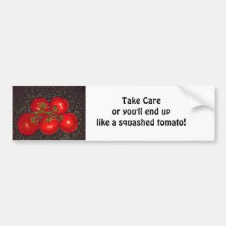 Bumper Sticker - Take Care - 5 Tomatoes