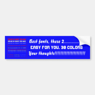 Bumper Sticker Template Easy for you View notes