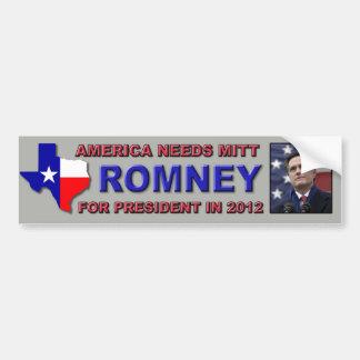 Bumper Sticker - Texans for Mitt Romney