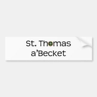 bumper sticker: text name with rose window car bumper sticker