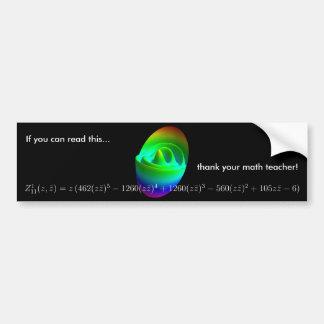 Bumper sticker: thank your math teacher! 1 bumper sticker