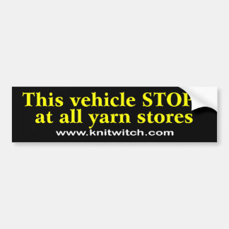 Bumper Sticker - This Vehicle stops