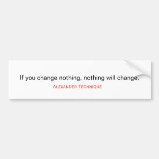 Bumper sticker - time for a change