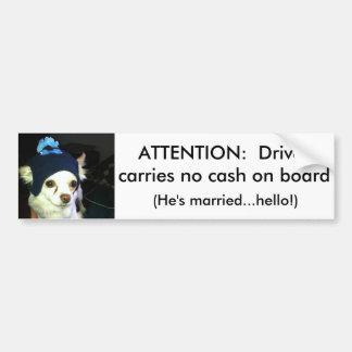 Bumper Sticker To Ward Off Thieves Car Bumper Sticker