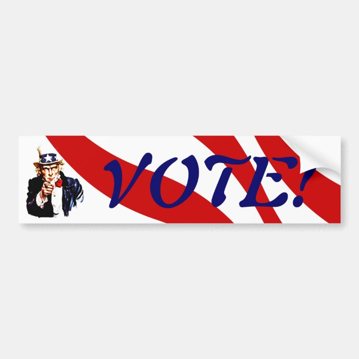 Bumper Sticker Uncle Sam wants you to VOTE!