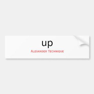 Bumper sticker - up