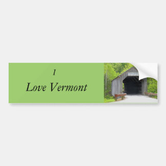Bumper Sticker, Vermont Covered Bridge Bumper Sticker