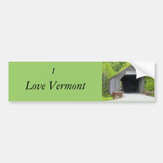 Bumper Sticker, Vermont Covered Bridge Car Bumper Sticker